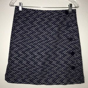 LOFT outlet tweed skirt purple black lined Sz 4